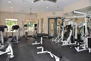 Cachet's private fitness center.
